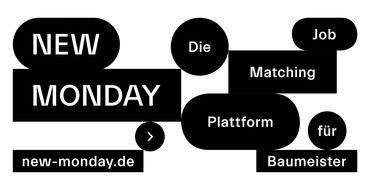New Monday - Job Plattform für Architekten, Freiraumplaner und Bauingenieure